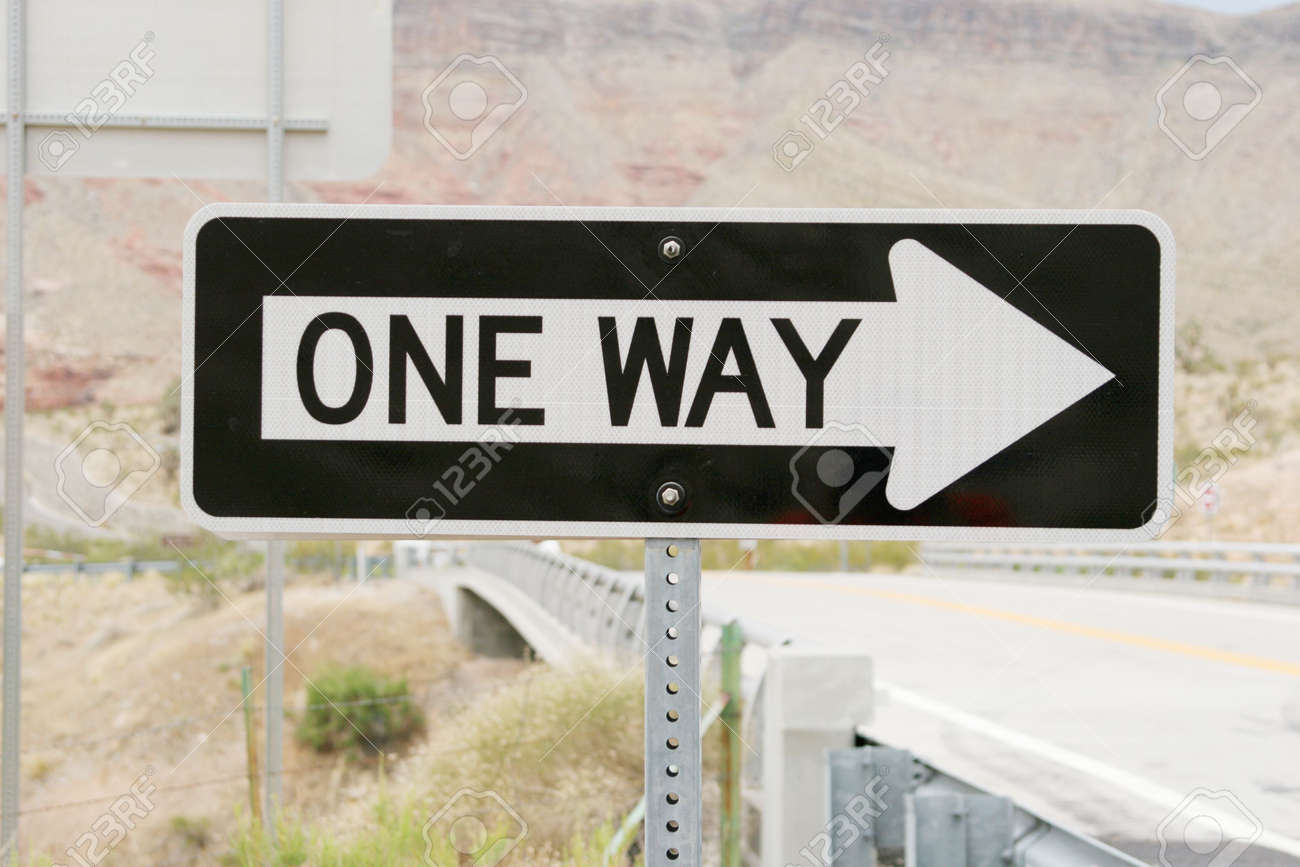 One way traffic sign Stock Photo - 2077820