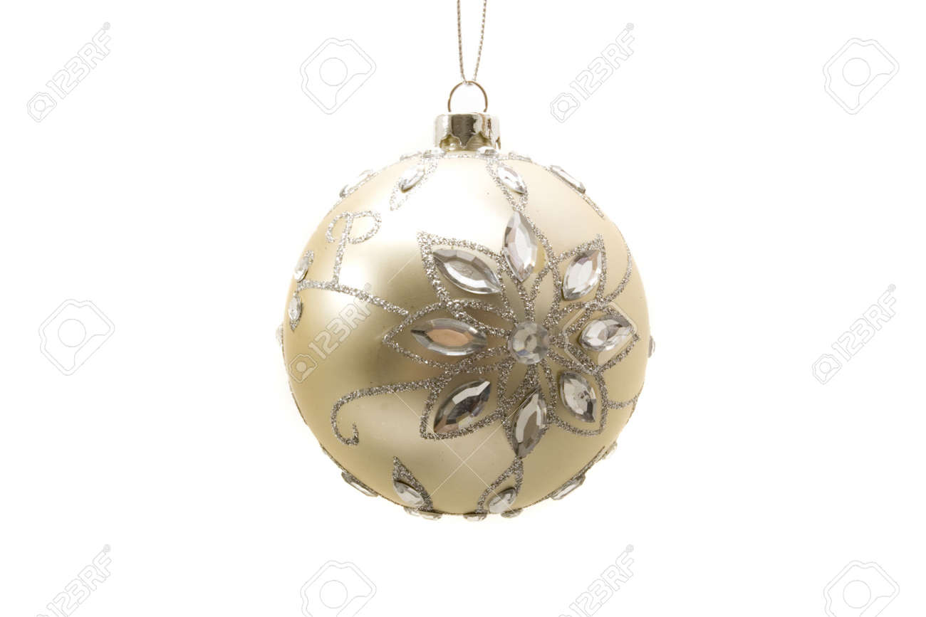 Decorative Christmas ornaments on isolated white background Stock Photo - 2200847