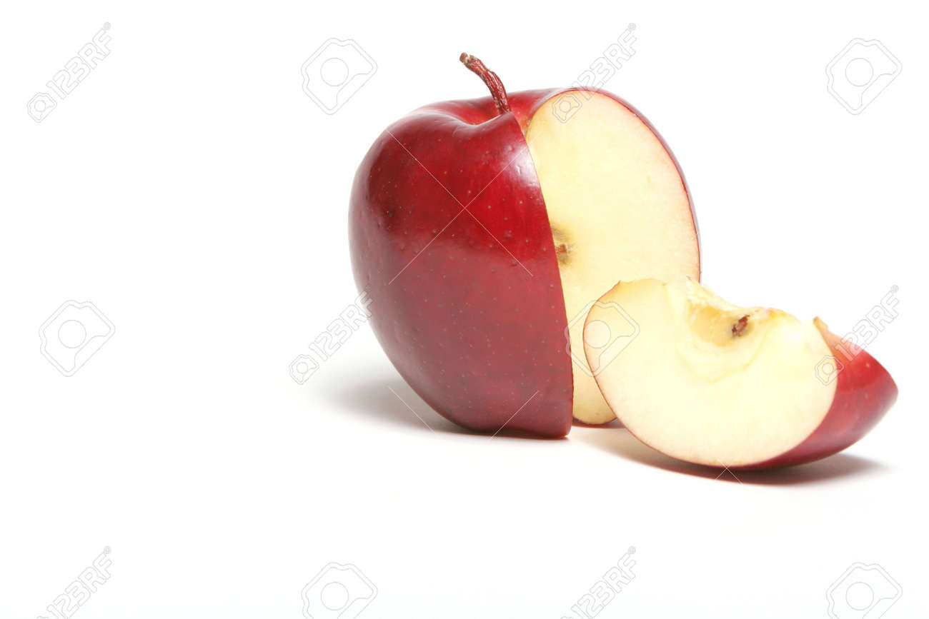 Red apple with a slice Stock Photo - 3170862