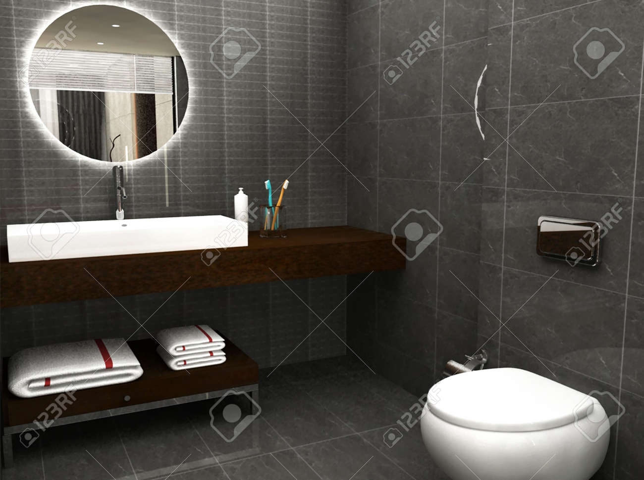 3D rendering of a bathroom Stock Photo - 5025619