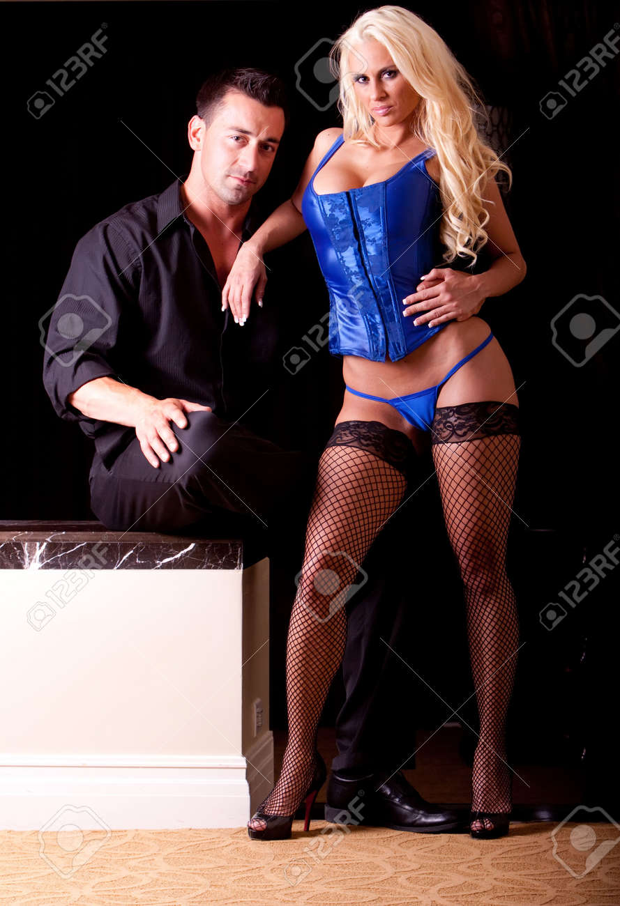 Sexy couple, woman in lingerie Stock Photo - 5324573