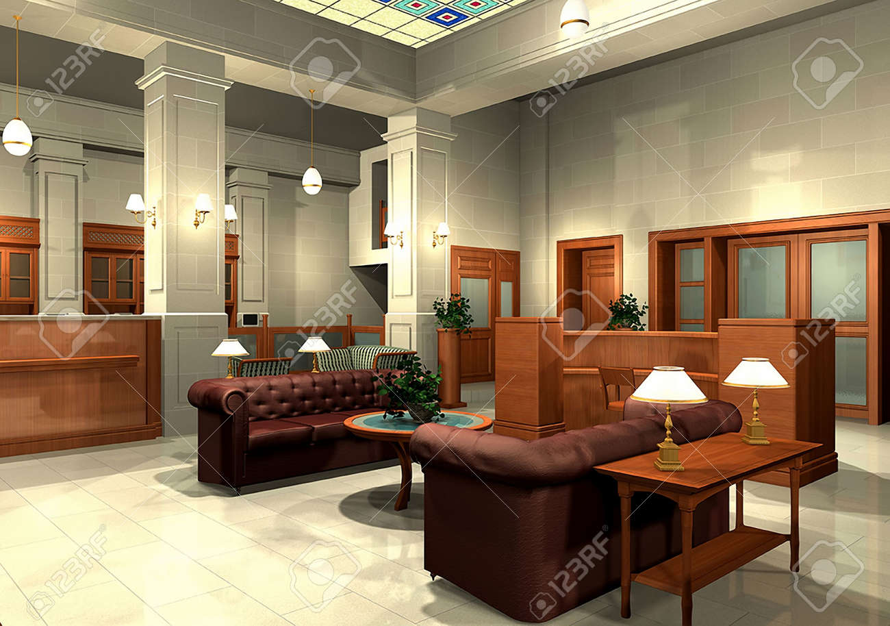 3D rendering of an office Stock Photo - 5411208