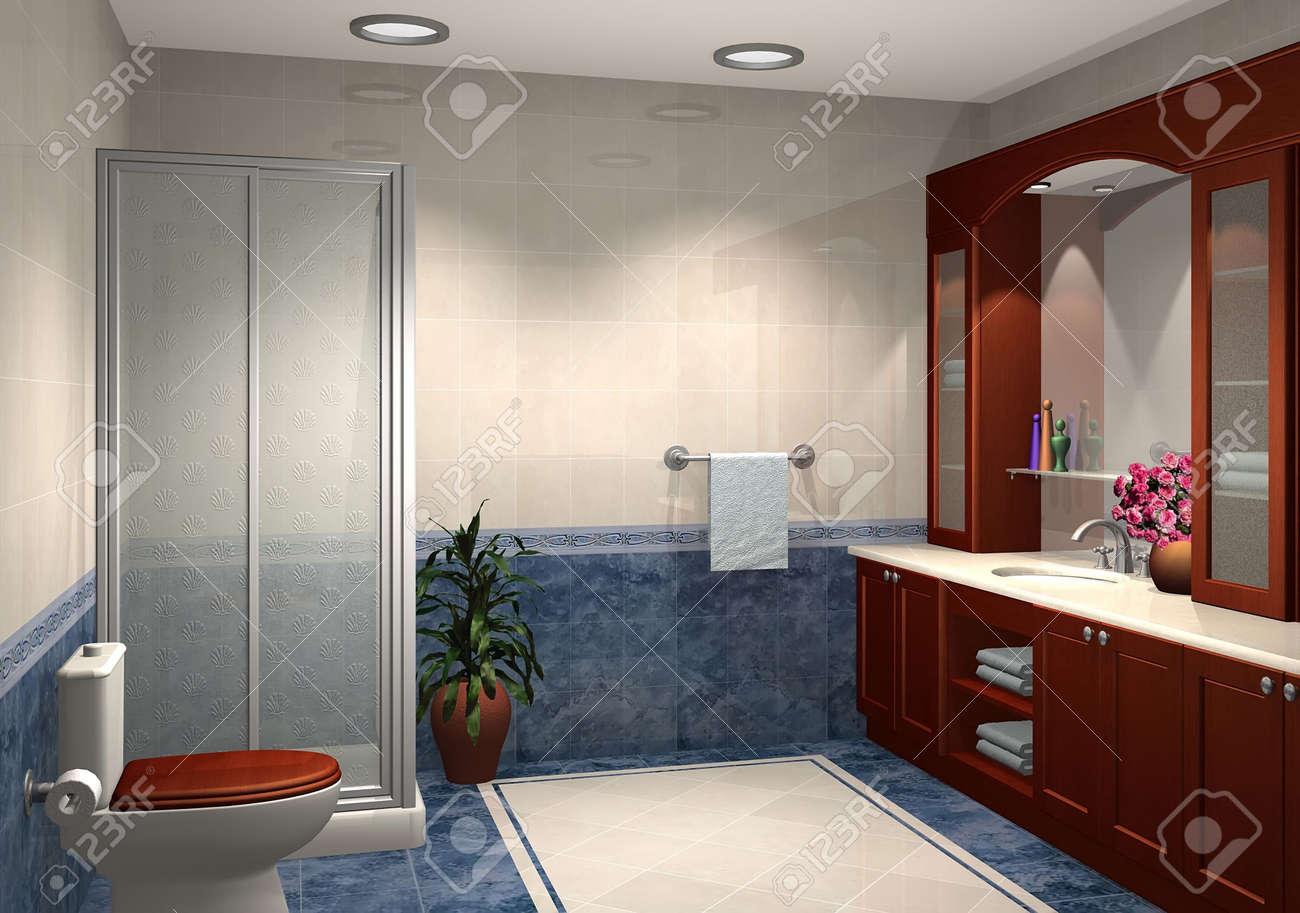 3d rendering di bagni moderni foto royalty free, immagini ... - Foto Di Bagni Moderni