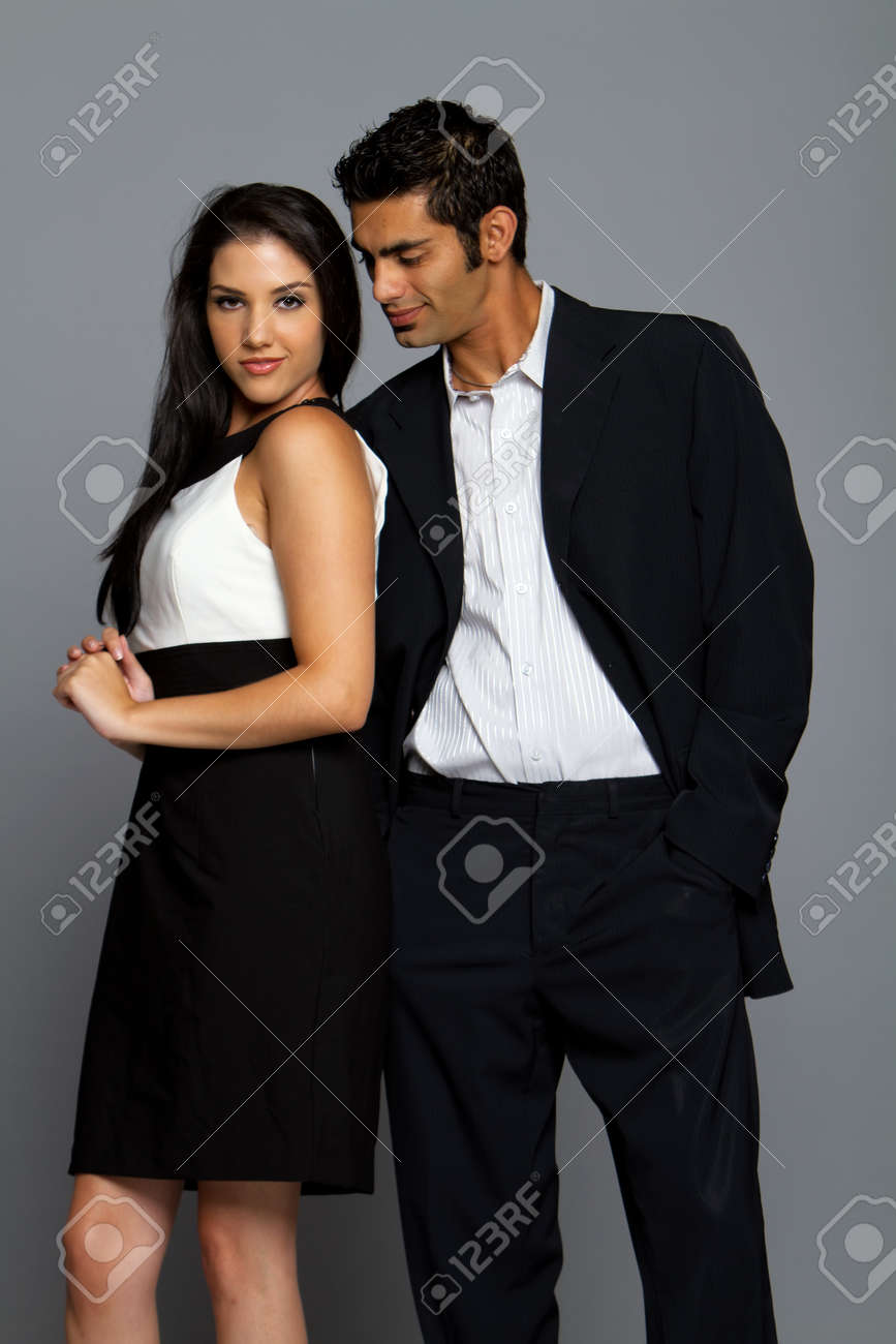Sexy romantic young couple in suit Stock Photo - 8448494