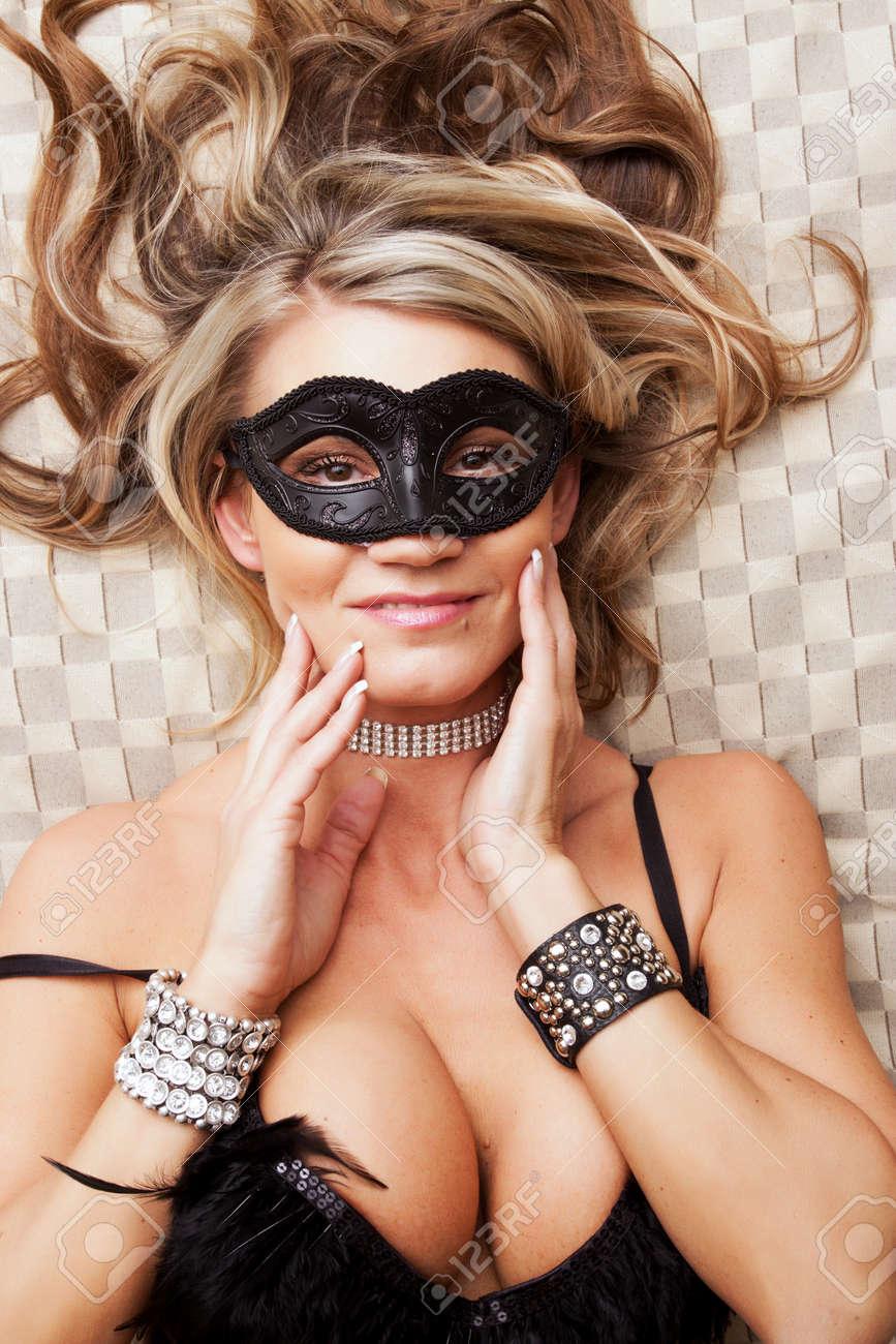 Sexy mature woman wearing mask Stock Photo - 9003036
