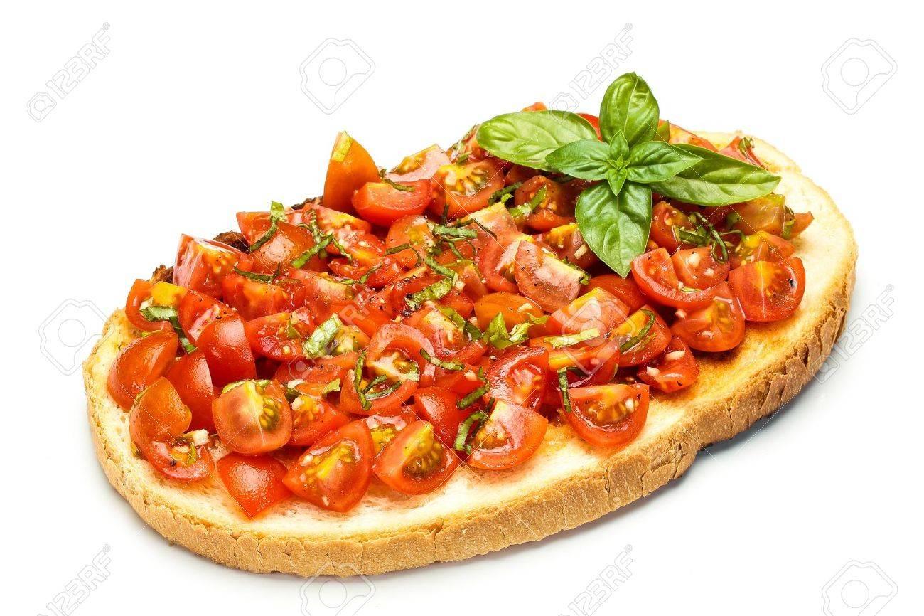 Savoureux Mediterranee Bruschetta Cuisine Italienne Traditionnelle