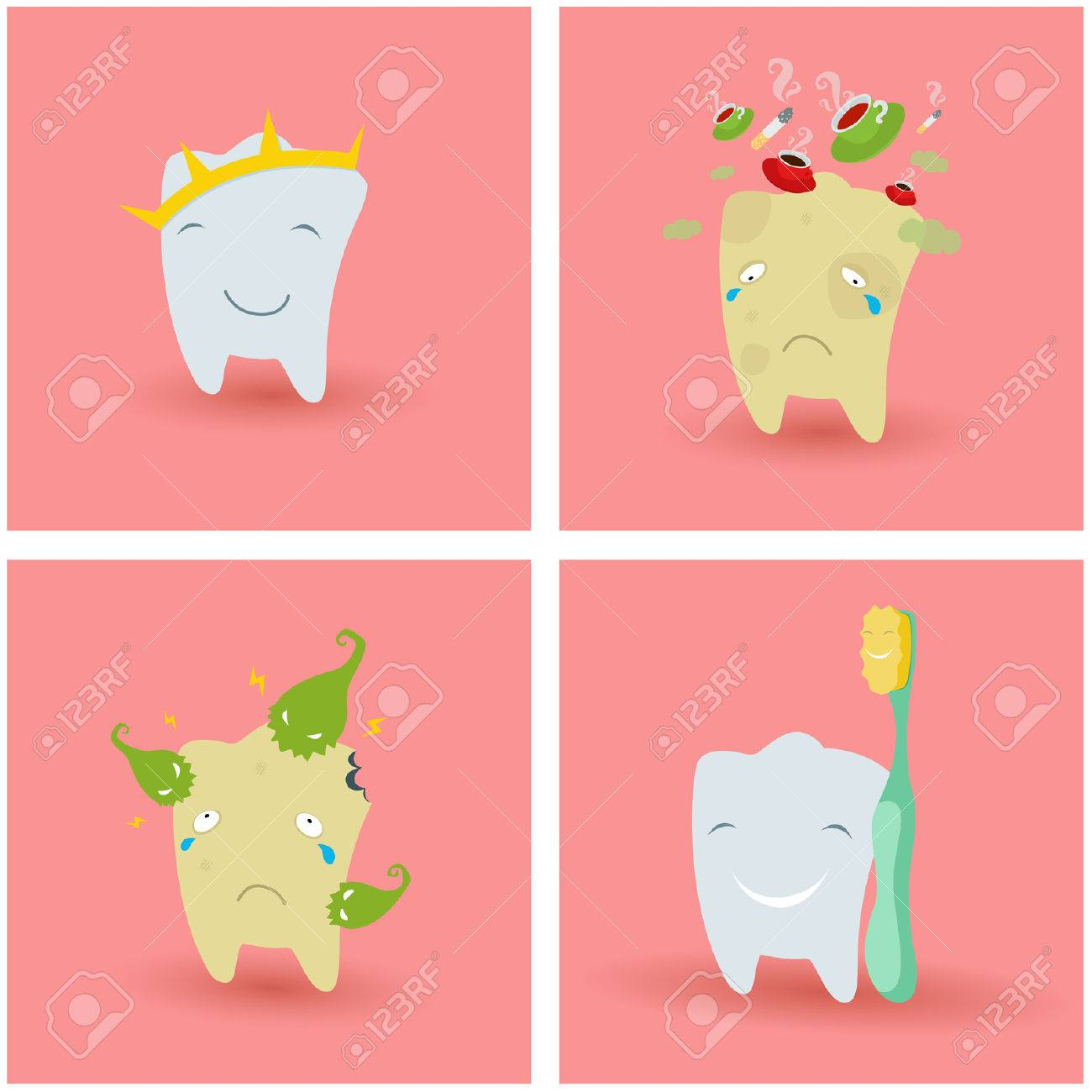 Illustration of healthy and ill Teeth Stock Vector - 23578312