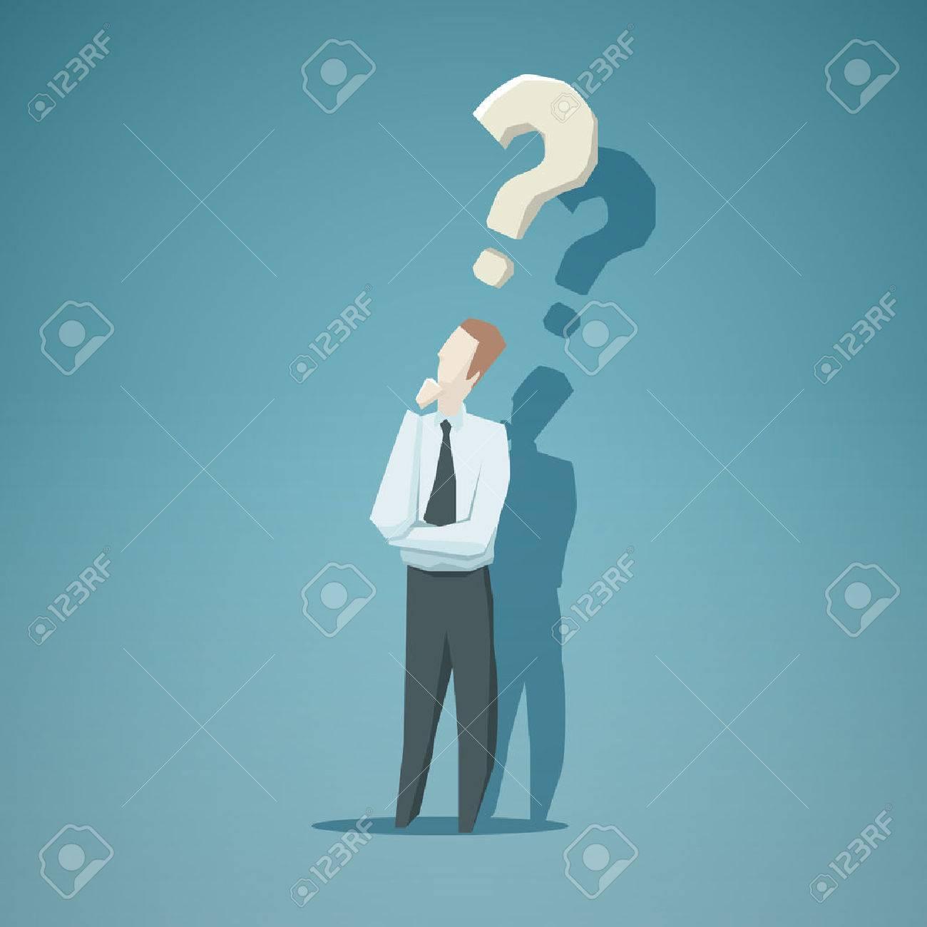 Dilemma of businessman. EPS 10 file - 40760929