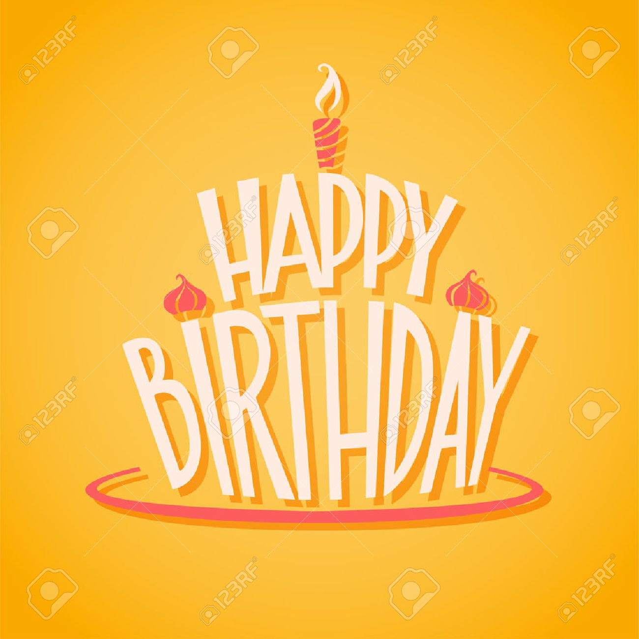 Happy Birthday Postcard. EPS 10 File Royalty Free Cliparts ...