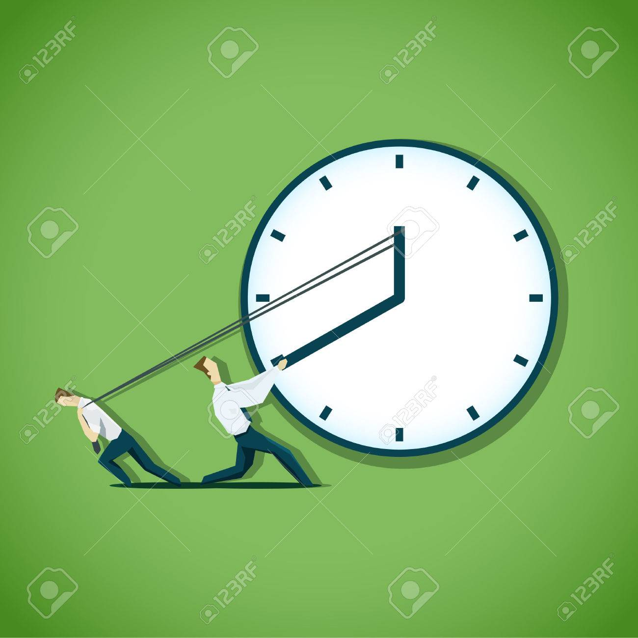 Two businessman are trying to slow the time. EPS 10 file - 40766122