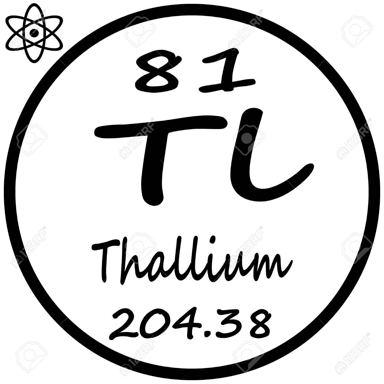 Periodic table of elements thallium royalty free cliparts vectors periodic table of elements thallium stock vector 53482374 urtaz Choice Image