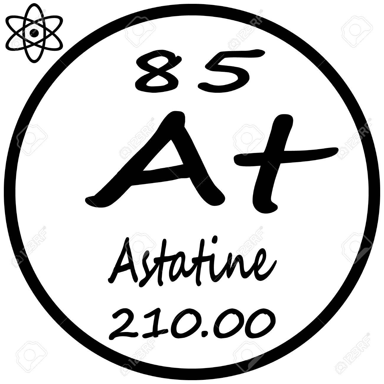 Periodic table of elements astatine royalty free cliparts vectors periodic table of elements astatine stock vector 53482375 urtaz Image collections