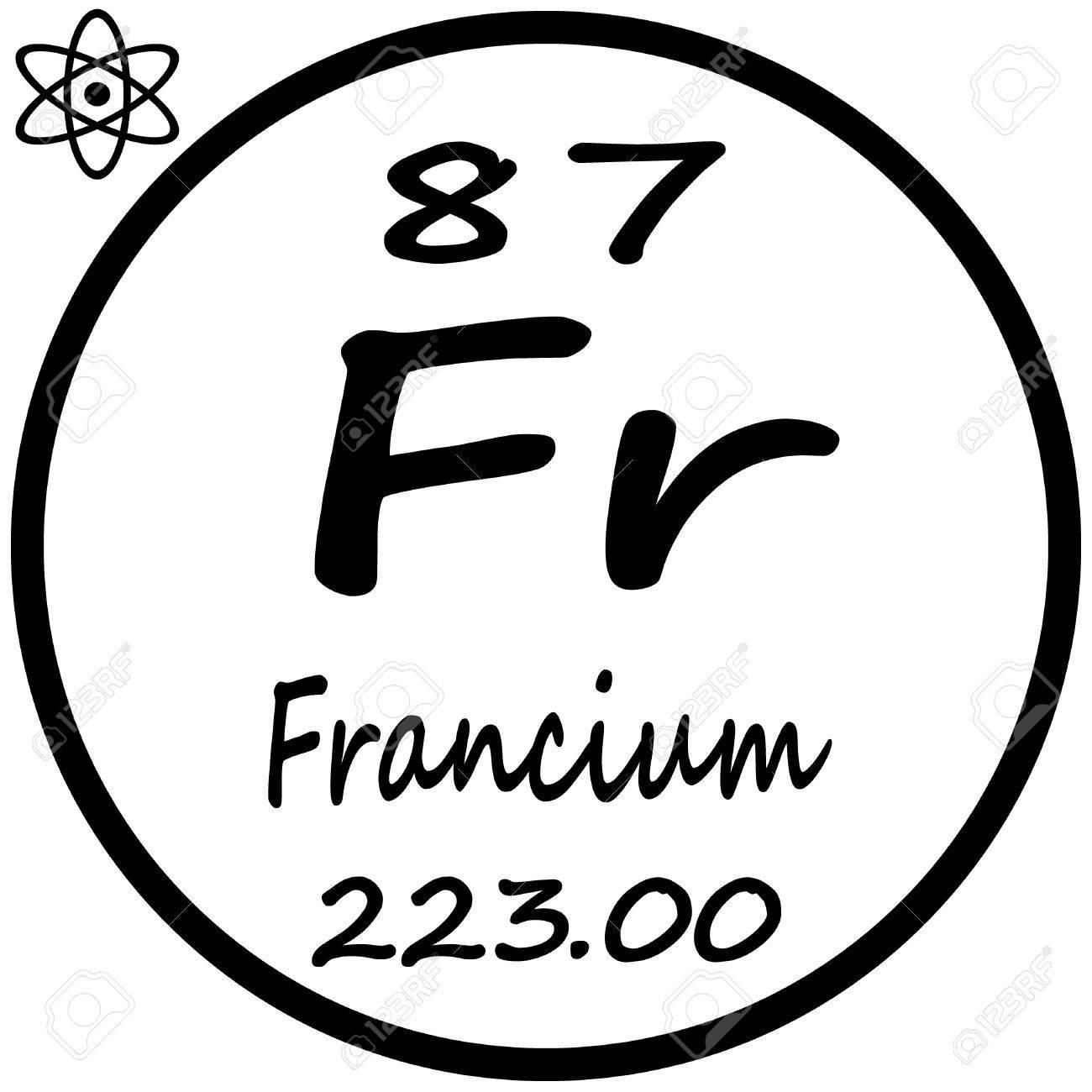Tabla peridica de los elementos francio ilustraciones vectoriales foto de archivo tabla peridica de los elementos francio urtaz Choice Image