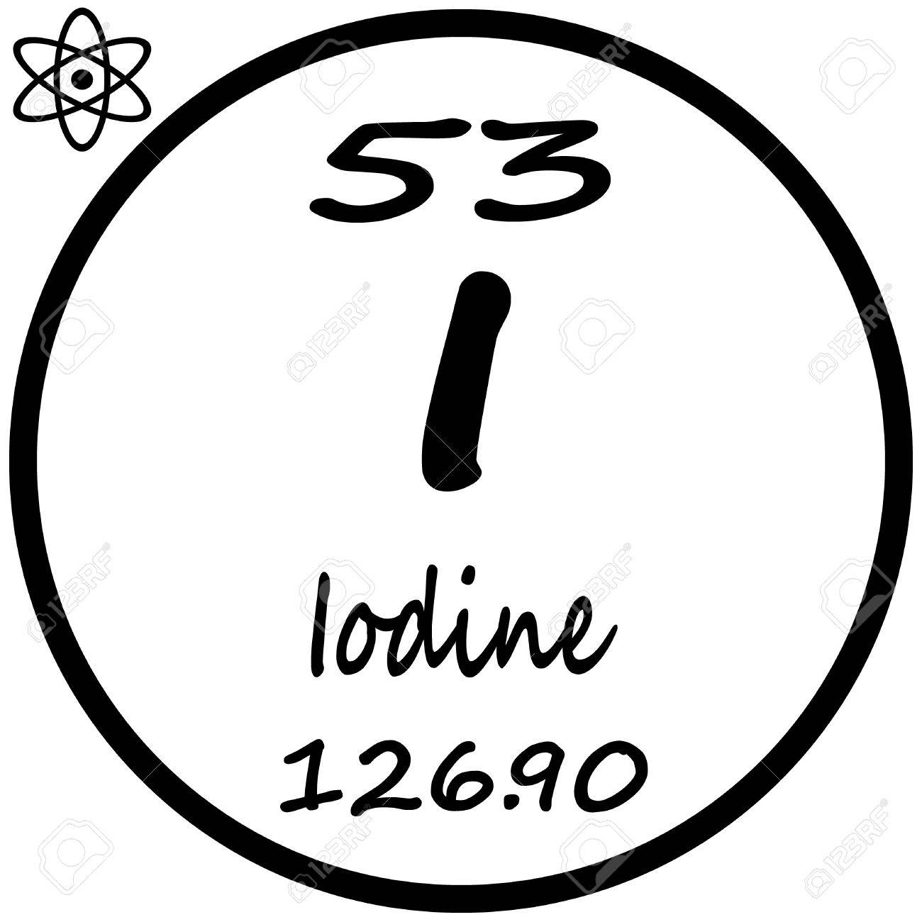 Periodic table of elements iodine royalty free cliparts vectors periodic table of elements iodine stock vector 53482380 gamestrikefo Choice Image