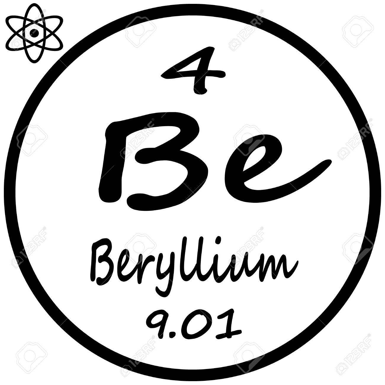 Periodic table of elements beryllium royalty free cliparts periodic table of elements beryllium stock vector 53482391 urtaz