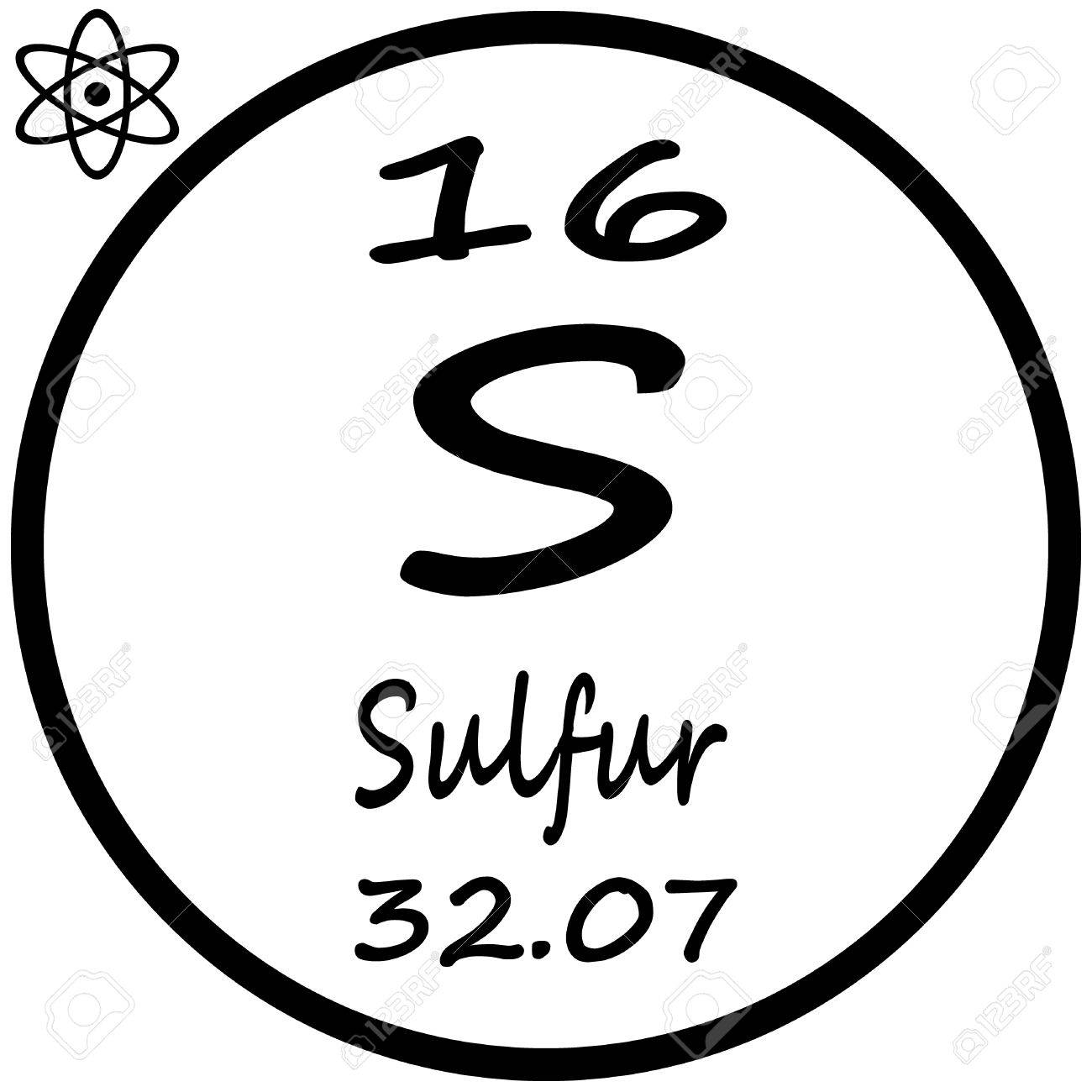 Periodic table of elements sulfur royalty free cliparts vectors periodic table of elements sulfur stock vector 53482433 buycottarizona Image collections
