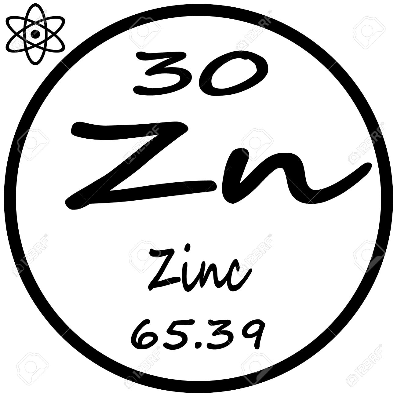 periodic table of elements zinc stock vector 53482479 - Tabla Periodica Zinc