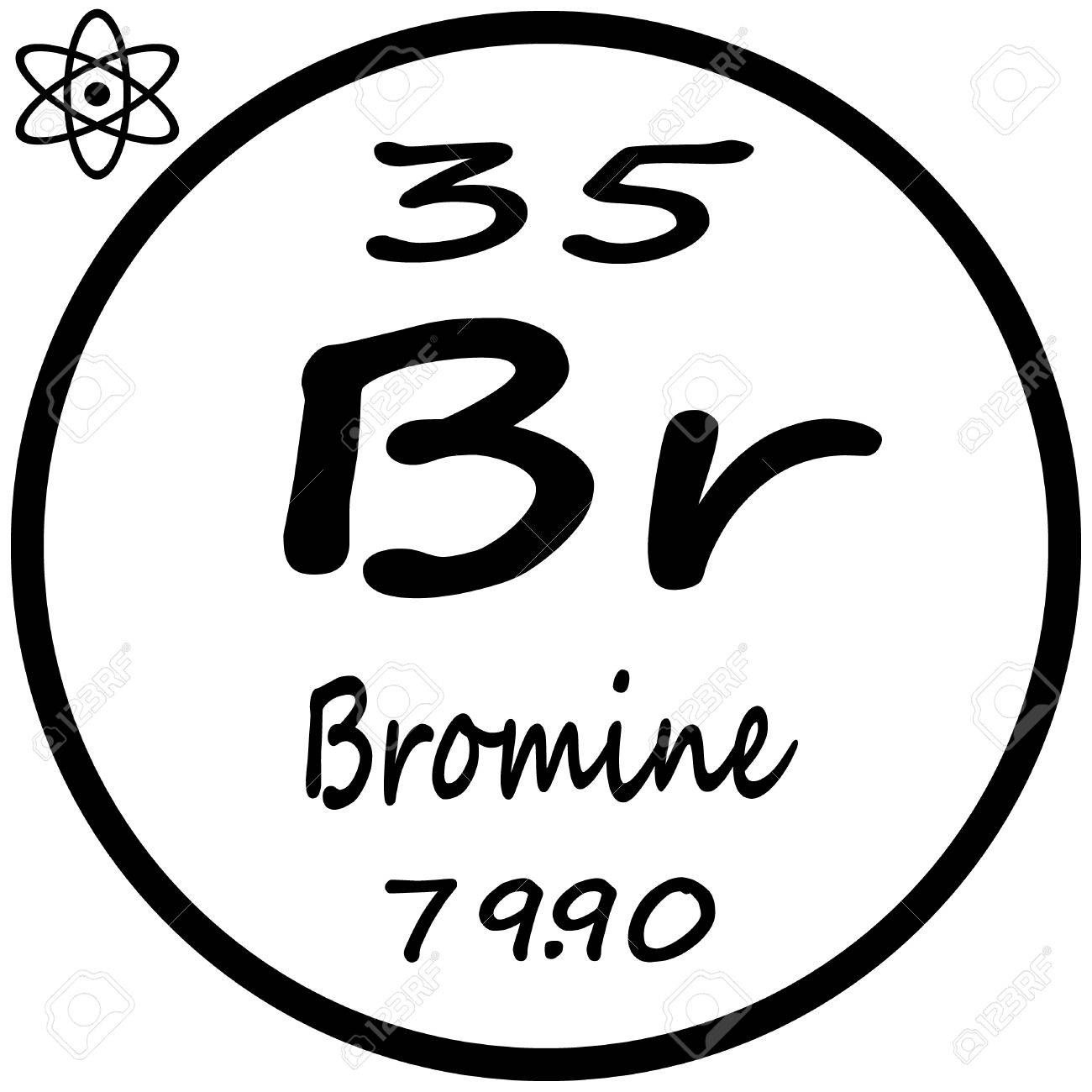 Periodic table of elements bromine royalty free cliparts vectors periodic table of elements bromine stock vector 53482488 buycottarizona Choice Image
