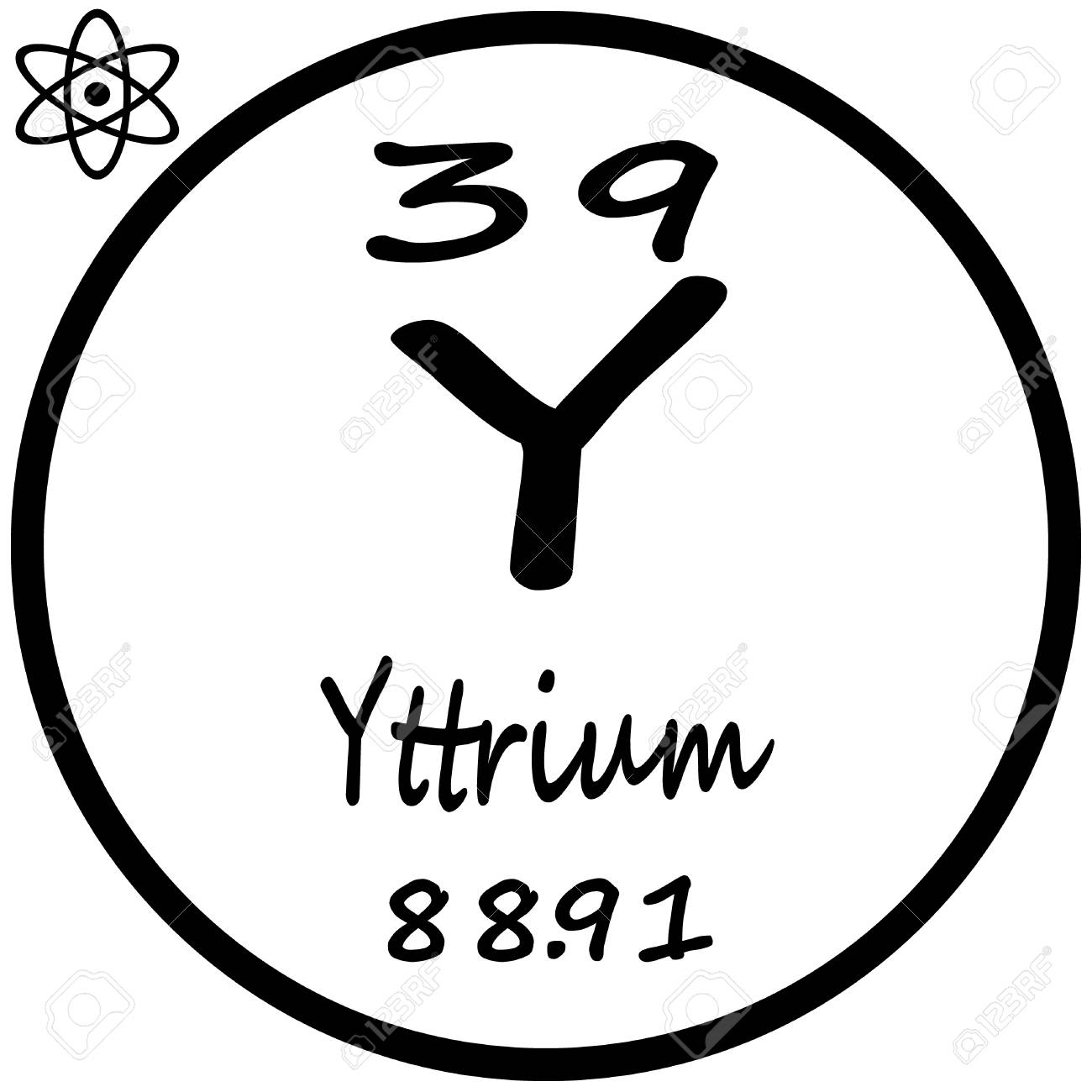 Periodic table of elements yttrium royalty free cliparts vectors periodic table of elements yttrium stock vector 53482490 urtaz Images
