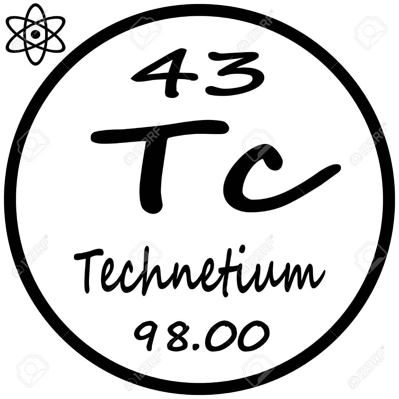 Periodic table of elements technetium royalty free cliparts periodic table of elements technetium stock vector 53482494 urtaz Images