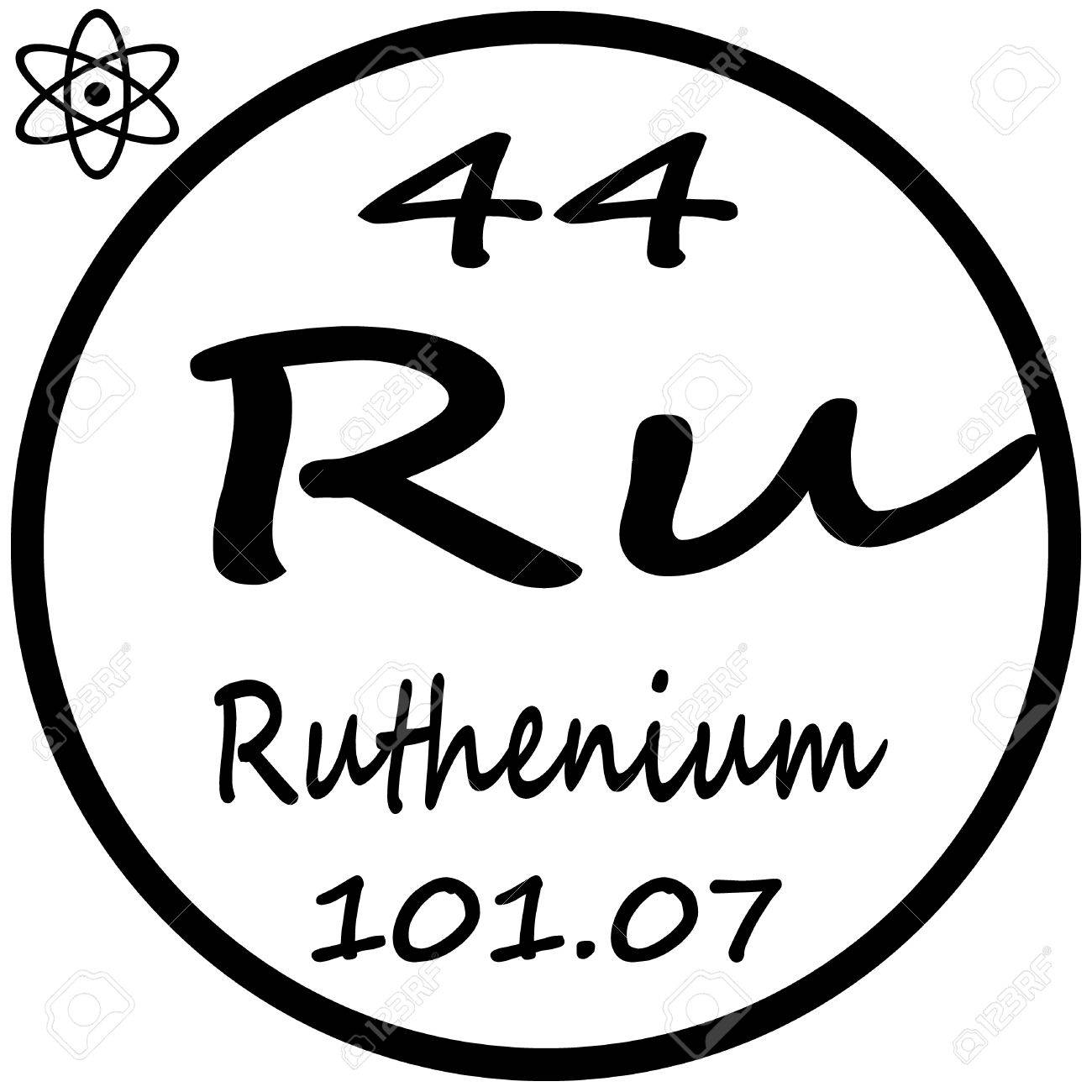 Periodic table of elements ruthenium royalty free cliparts periodic table of elements ruthenium stock vector 53482493 gamestrikefo Choice Image