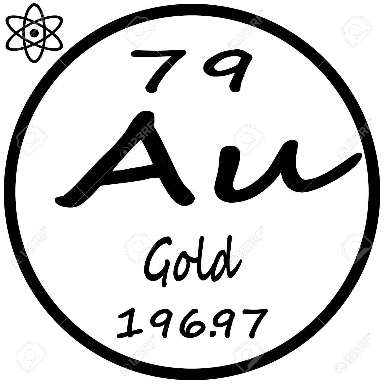 Periodic table of elements gold royalty free cliparts vectors periodic table of elements gold stock vector 53482656 urtaz Image collections