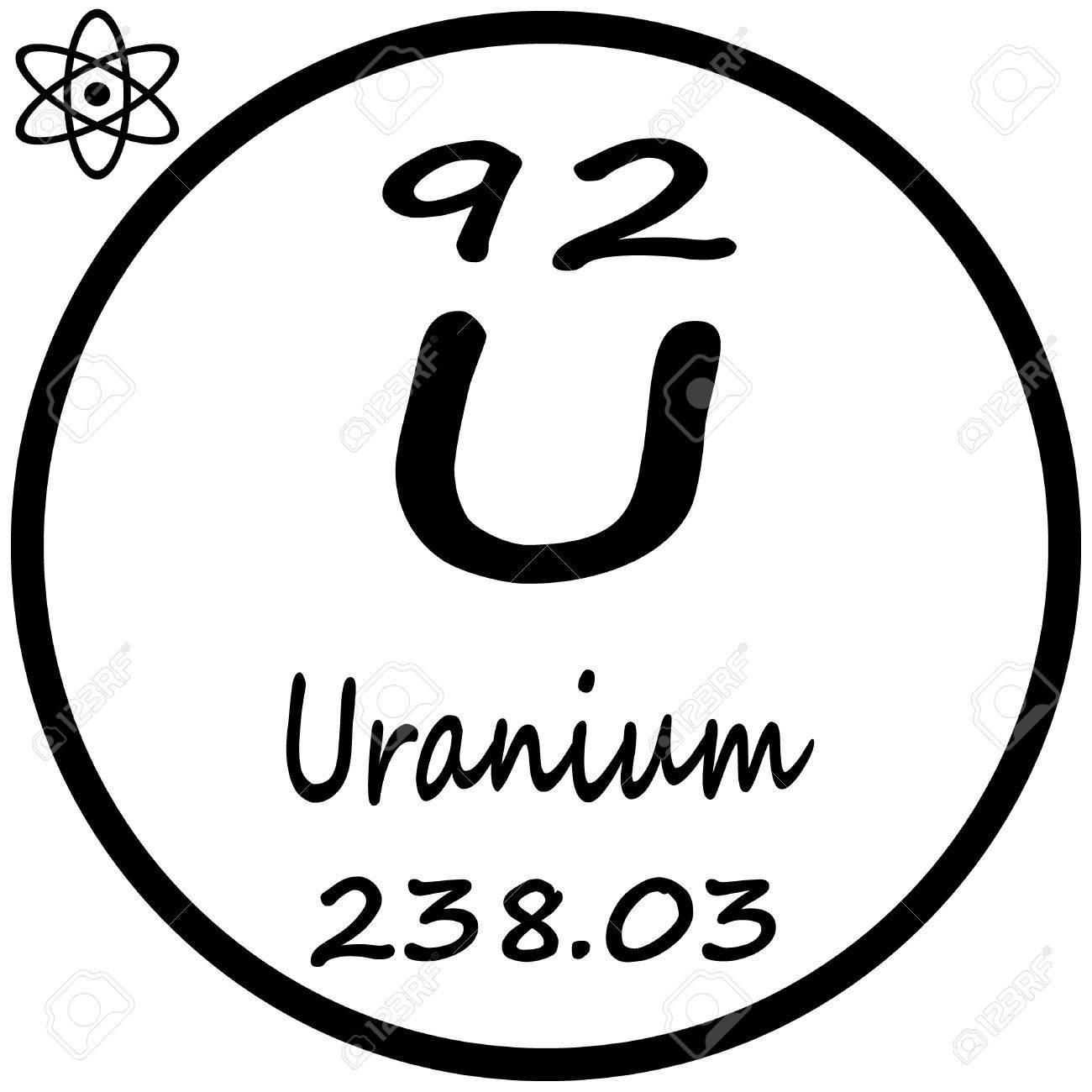 periodic table of elements uranium stock vector 53482679 - Periodic Table Of Elements Uranium