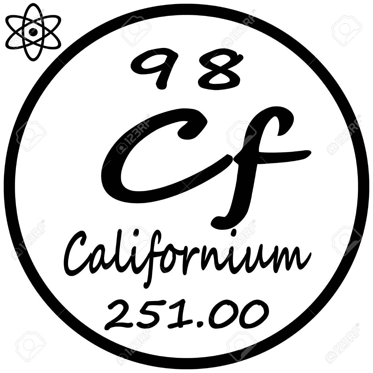 Periodic table of elements californium royalty free cliparts periodic table of elements californium stock vector 53482673 gamestrikefo Images