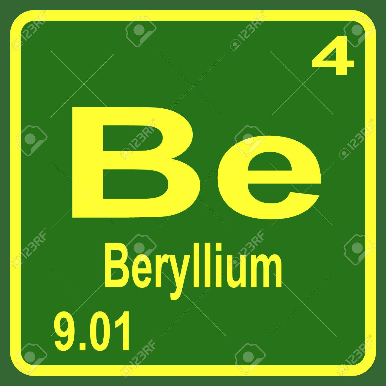 Periodic table of elements beryllium royalty free cliparts periodic table of elements beryllium stock vector 53900231 urtaz