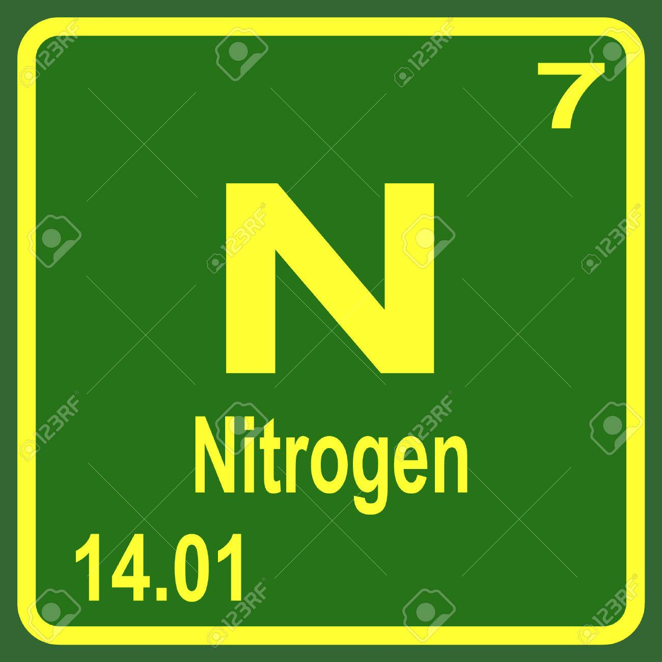 Periodic table of elements nitrogen royalty free cliparts vectors periodic table of elements nitrogen stock vector 53900234 urtaz Image collections