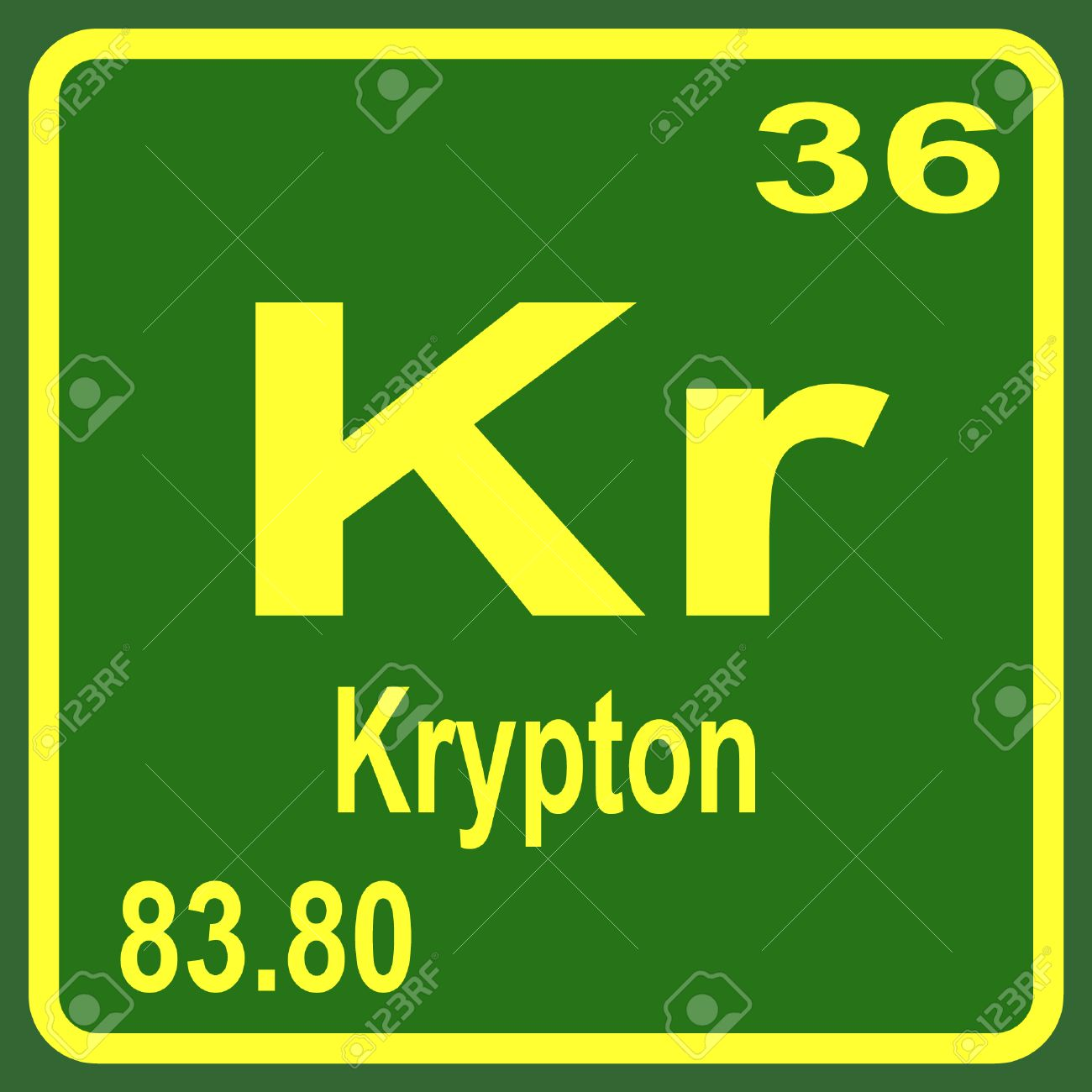 Periodic table of elements krypton royalty free cliparts vectors periodic table of elements krypton stock vector 53900424 urtaz