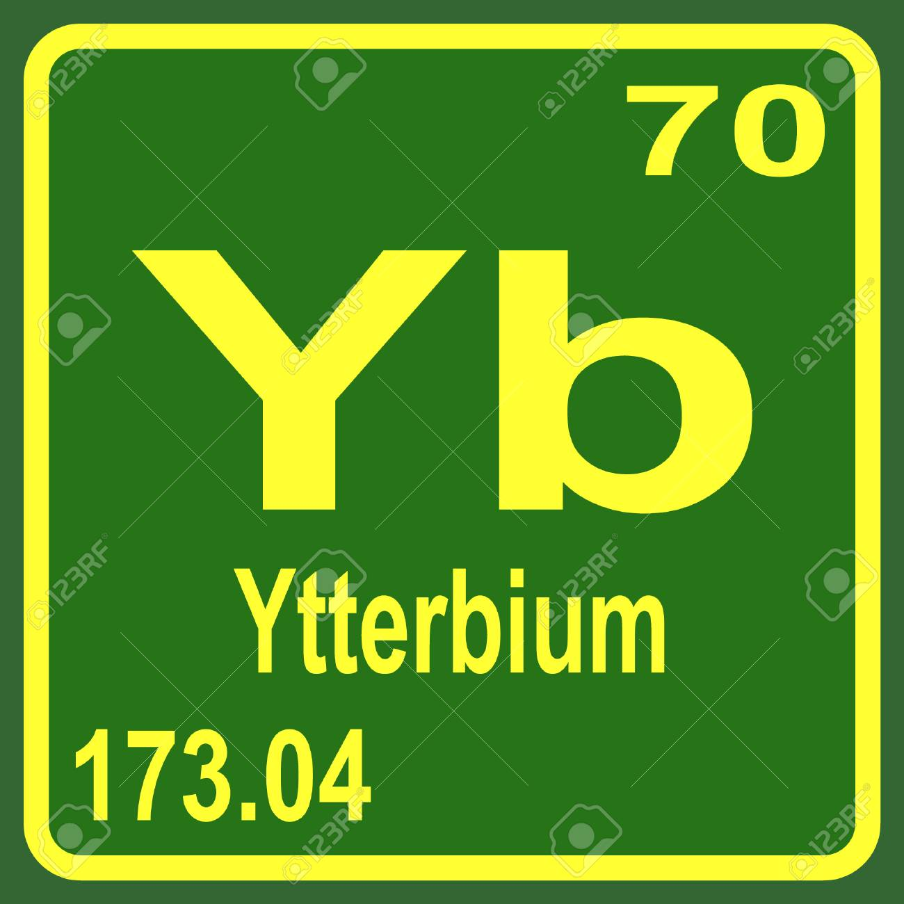 Periodic table of elements ytterbium royalty free cliparts periodic table of elements ytterbium stock vector 53900674 urtaz Images