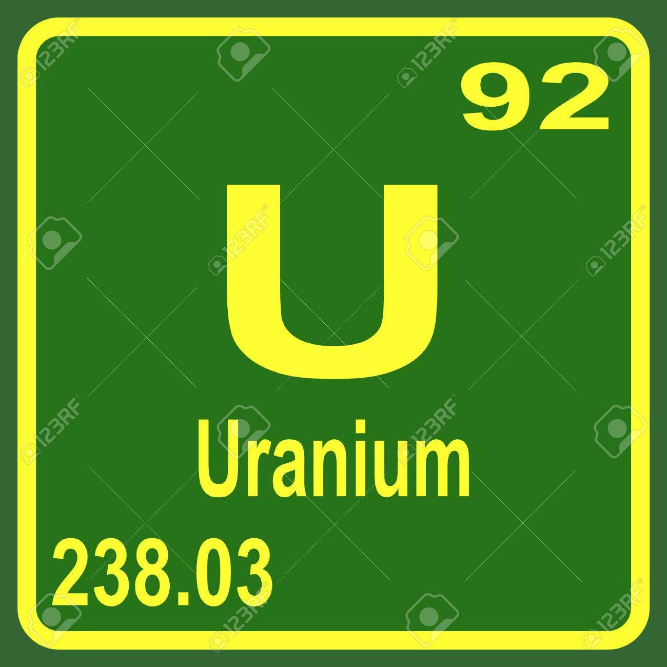 periodic table of elements uranium stock vector 53901564 - Periodic Table Of Elements Uranium