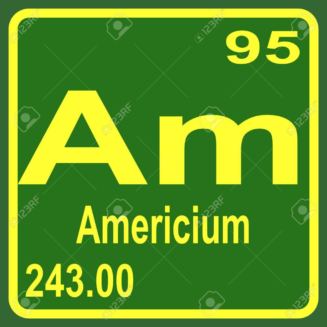 アメリシウムの元素の周期表 ロ...