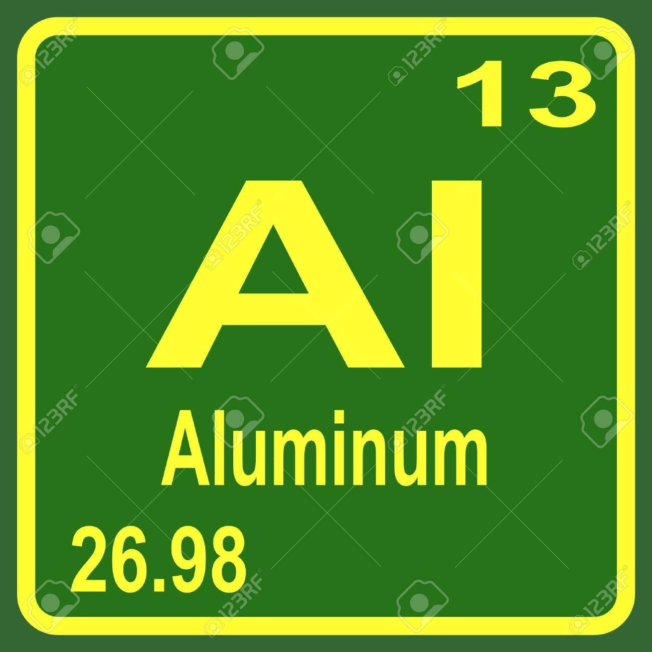 Periodic table of elements aluminum royalty free cliparts vectors periodic table of elements aluminum stock vector 53901619 urtaz Choice Image