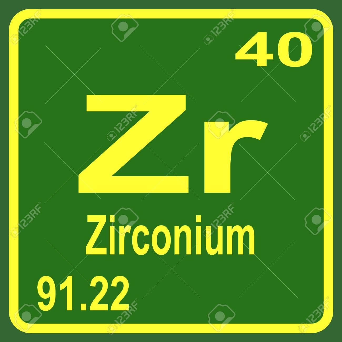 Zirconium chemical element symbol periodic map of japan and periodic table of elements zirconium royalty free cliparts 53901643 periodic table of elements zirconium stock vector gamestrikefo Images