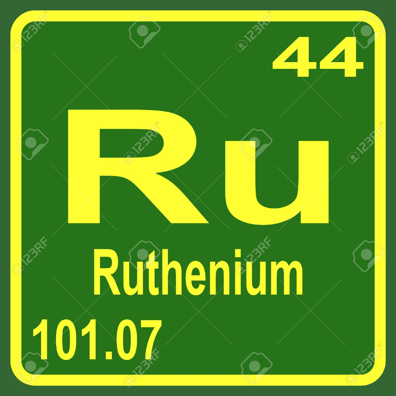Periodic table of elements ruthenium royalty free cliparts periodic table of elements ruthenium stock vector 53901710 gamestrikefo Choice Image