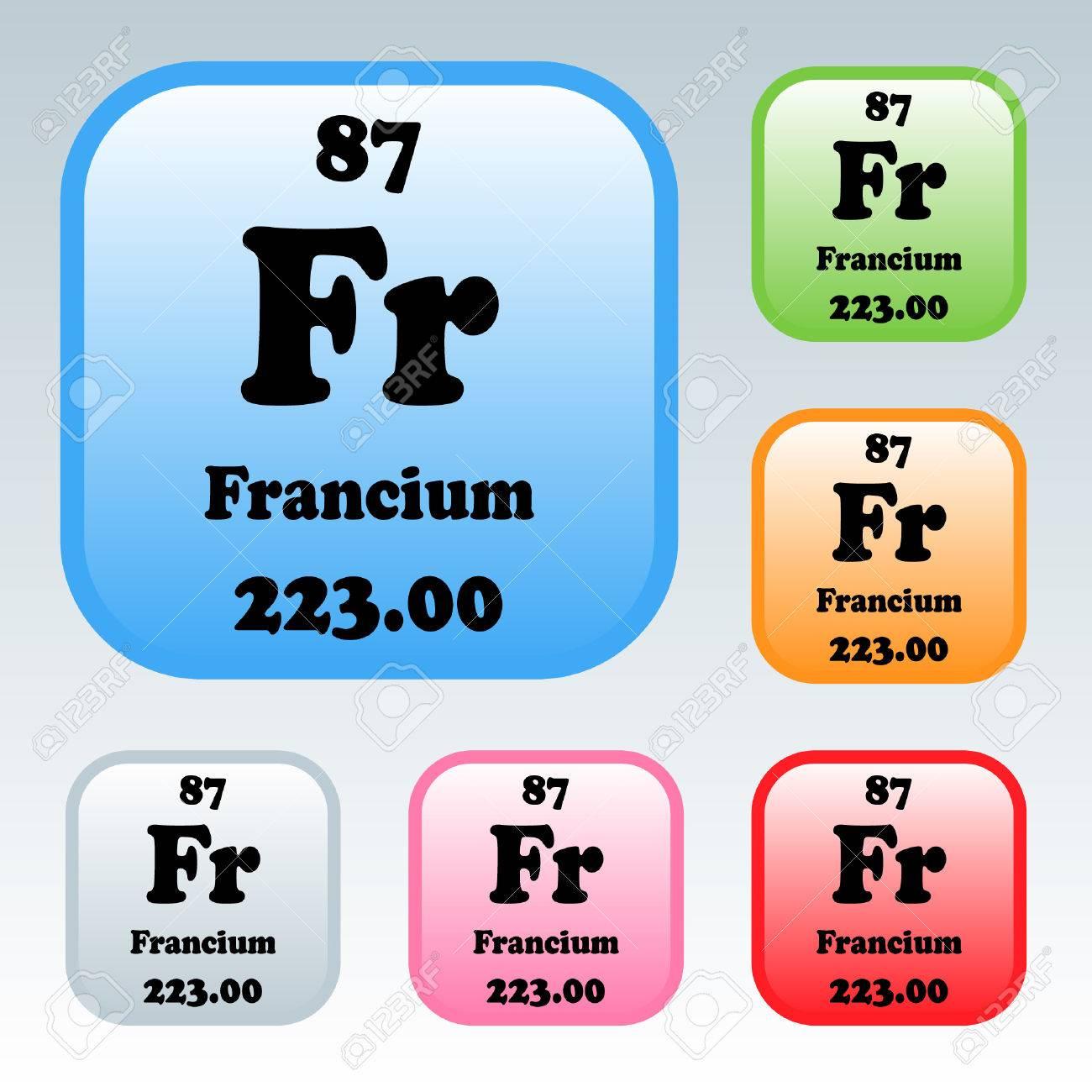 La tabla peridica de los elementos francio ilustraciones foto de archivo la tabla peridica de los elementos francio urtaz Choice Image