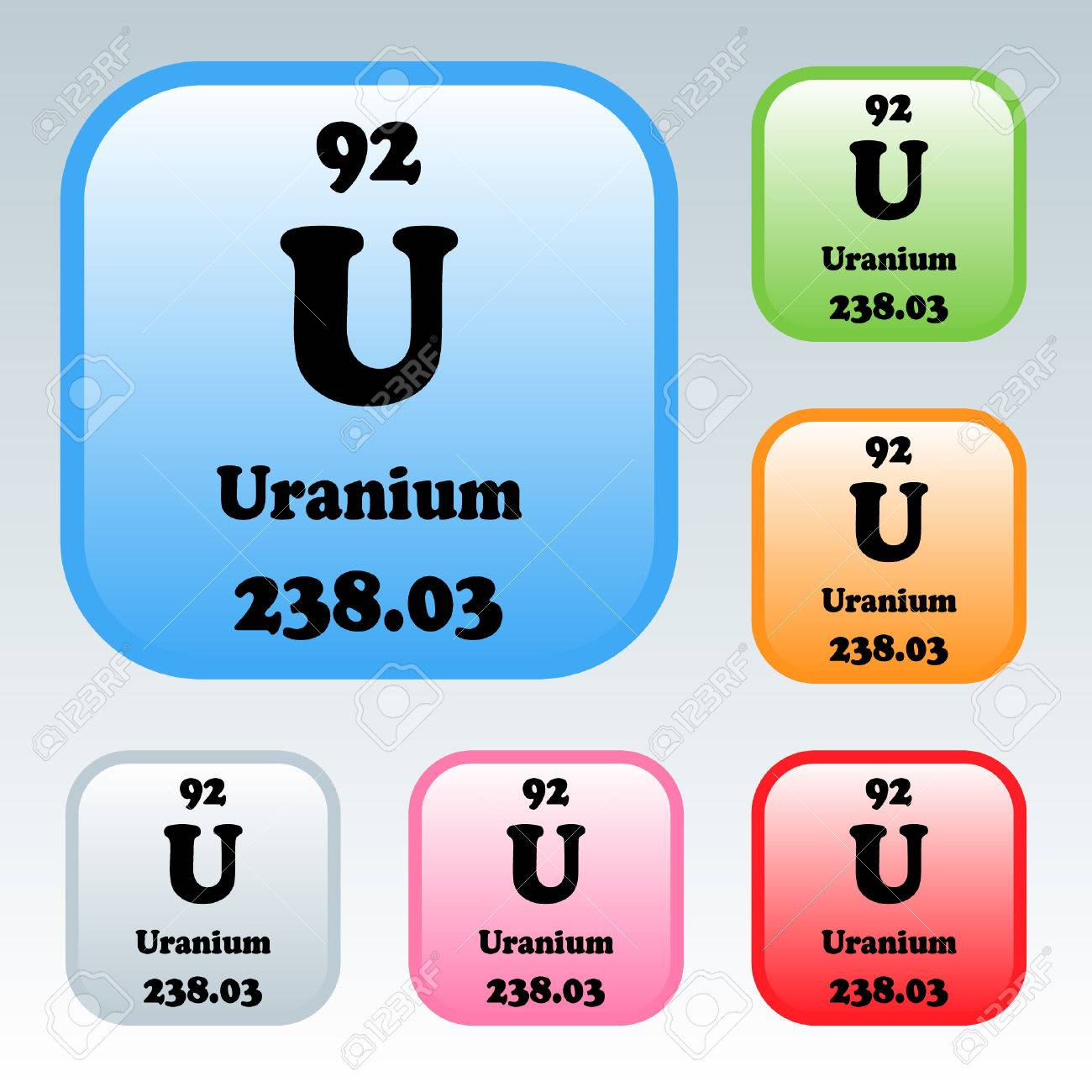 The periodic table of the elements uranium royalty free cliparts the periodic table of the elements uranium stock vector 54092681 urtaz Choice Image
