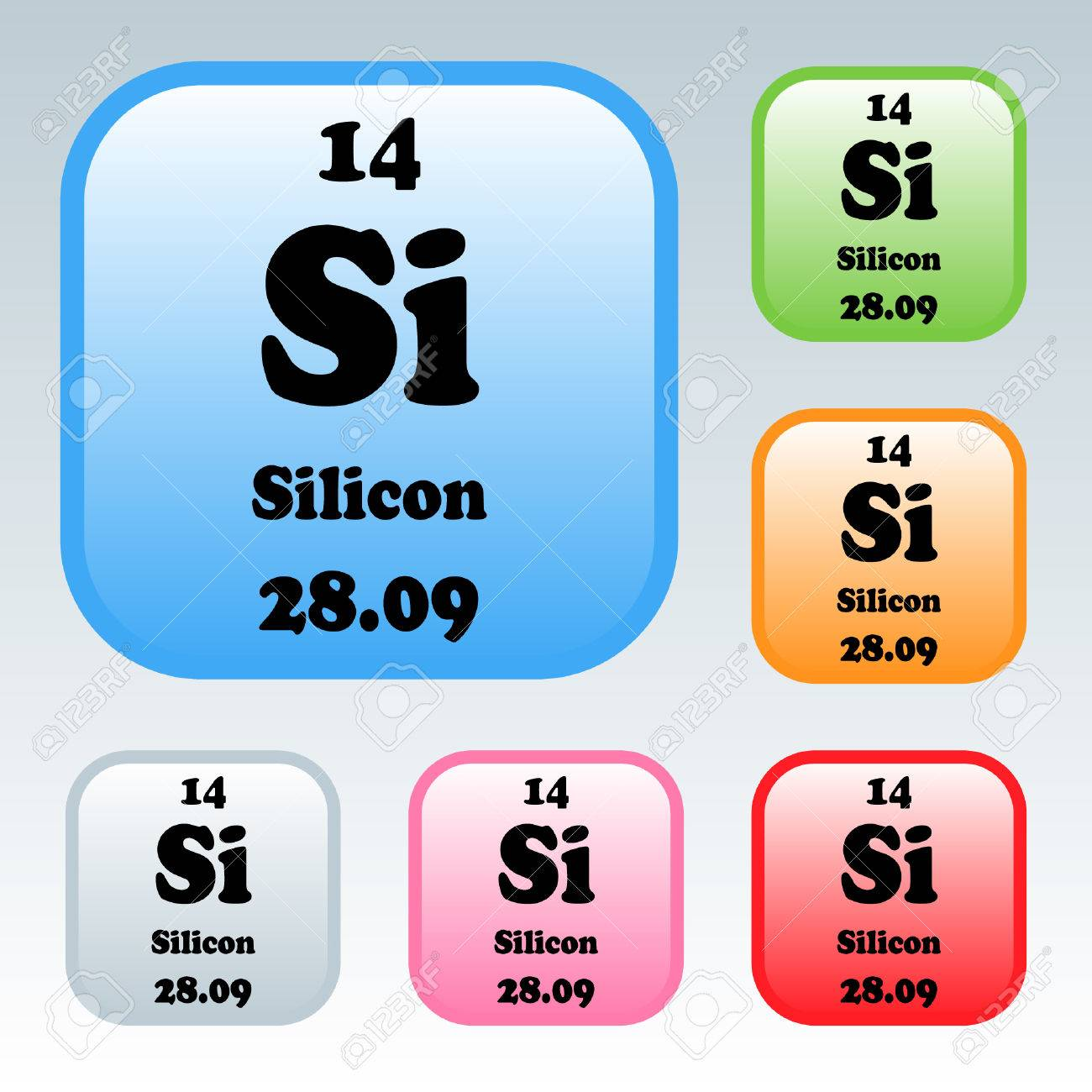 silicon element periodic table stock photo picture and royalty - Periodic Table Abbreviation For Silicon