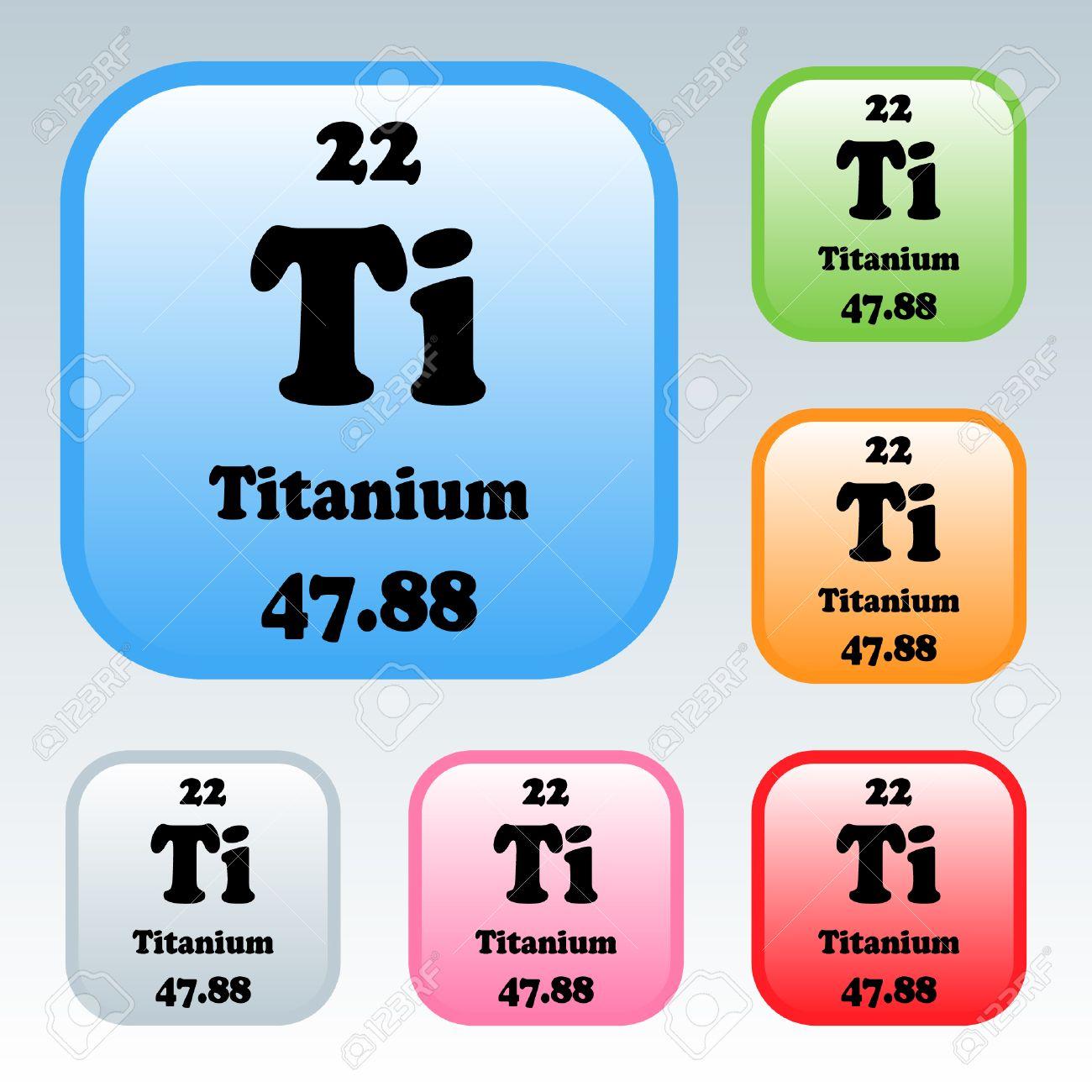 La tabla peridica de los elementos de titanio ilustraciones foto de archivo la tabla peridica de los elementos de titanio urtaz Choice Image