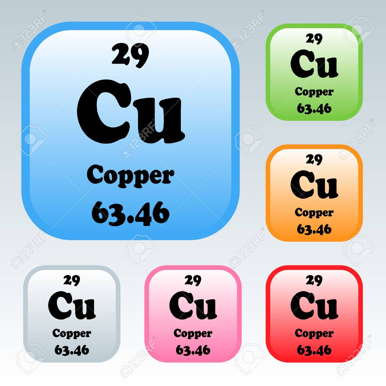 the periodic table of the elements copper stock vector 54092962 - Periodic Table Copper