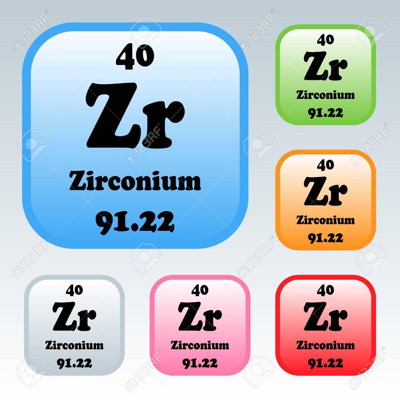 The periodic table of the elements zirconium royalty free cliparts the periodic table of the elements zirconium stock vector 54093212 urtaz Images