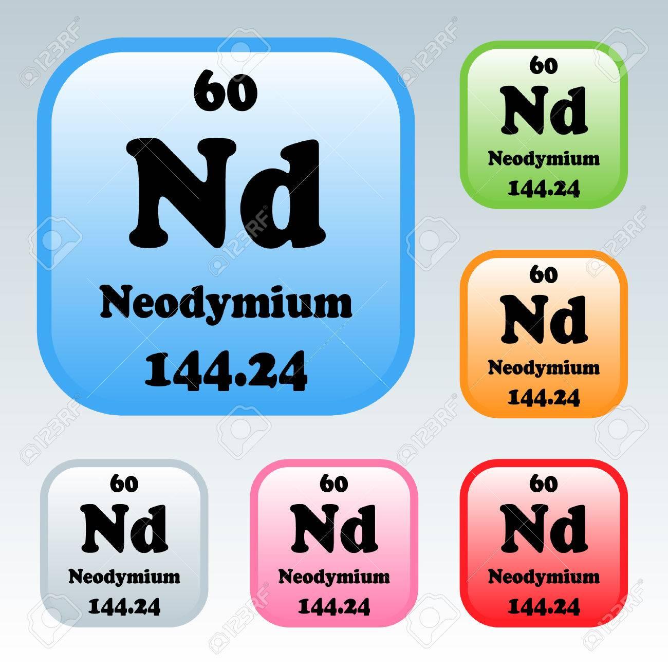 The periodic table of the elements neodymium royalty free cliparts the periodic table of the elements neodymium stock vector 54093233 gamestrikefo Choice Image