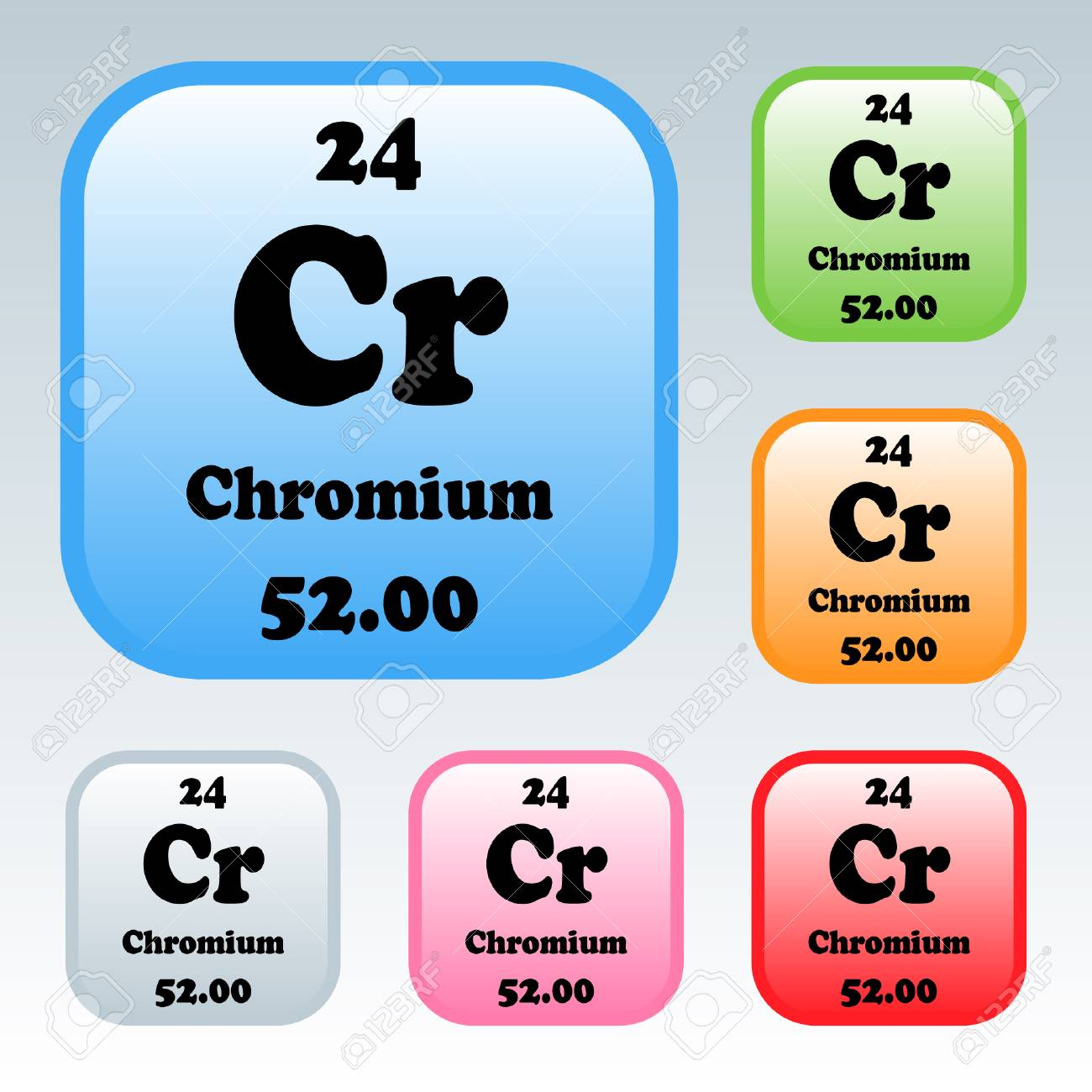 The Periodic Table Of The Elements Chromium Royalty Free Cliparts