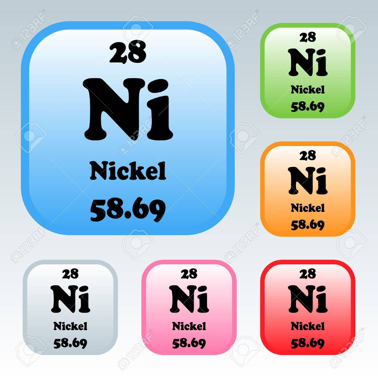 The Periodic Table Of The Elements Nickel Royalty Free Cliparts