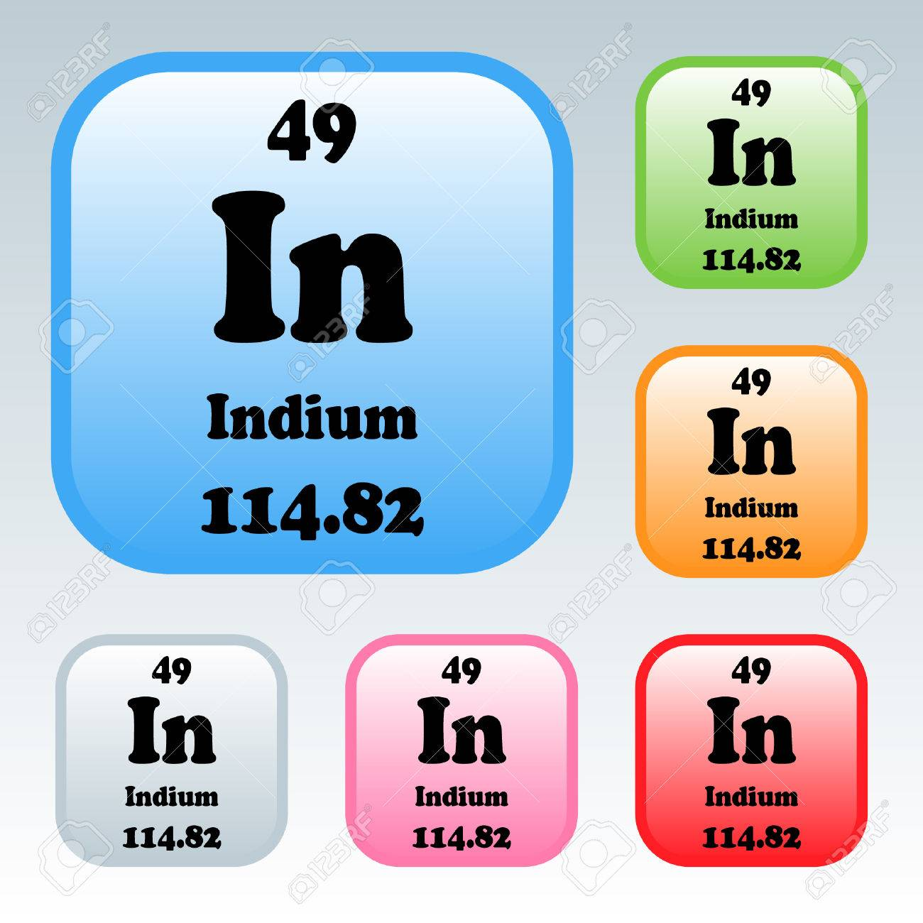 The periodic table of the elements indium royalty free cliparts the periodic table of the elements indium stock vector 54093524 gamestrikefo Gallery
