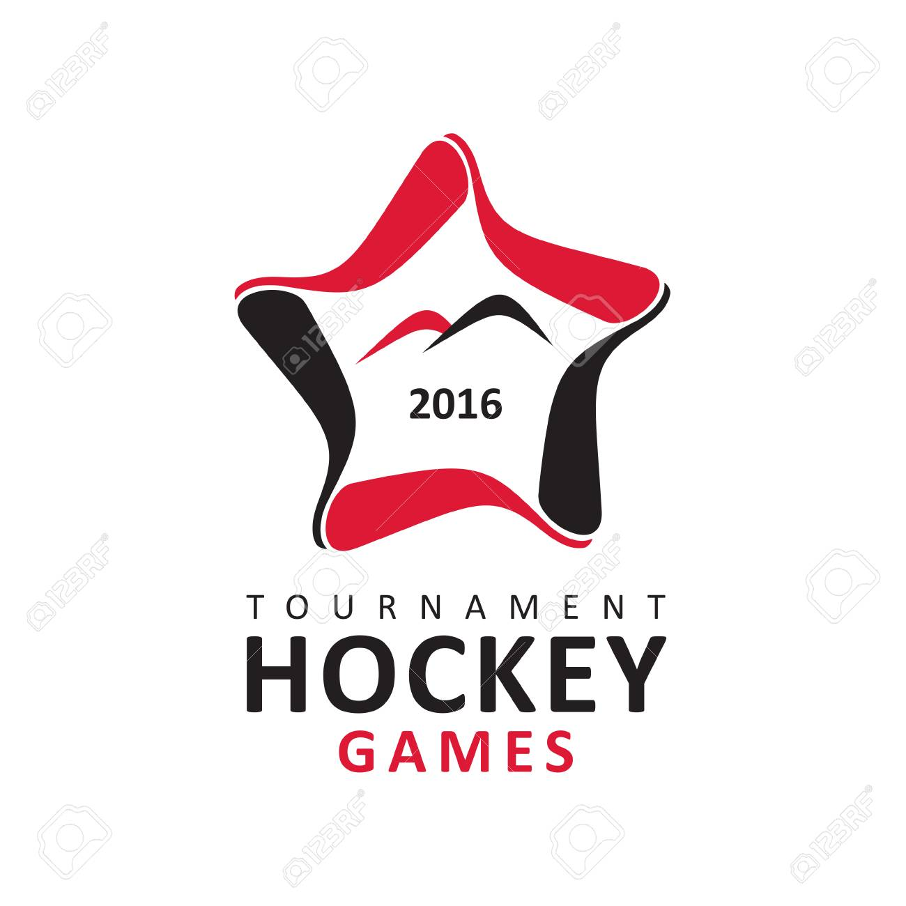 Logo Hockey Tournament Hockey Logo Emblem Vector Royalty Free