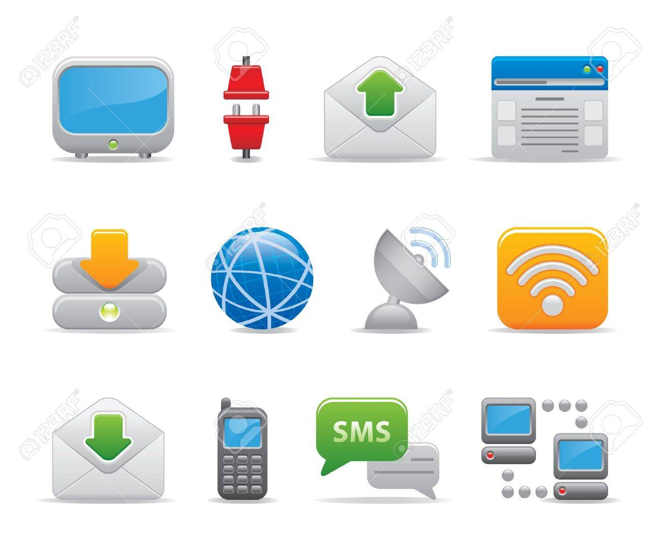 communication icons Stock Vector - 11206065