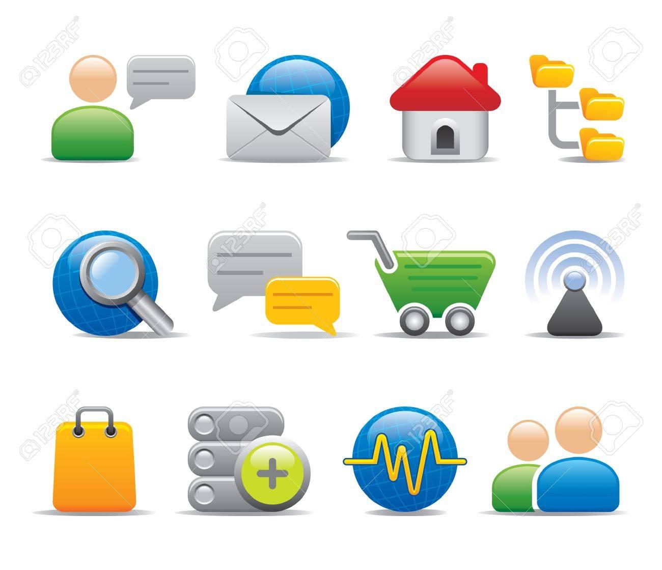 internet icons Stock Vector - 11206278